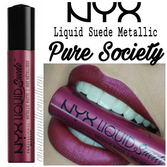 Nyx Makeup Metallic Liquid Suede Lip Cream Poshmark
